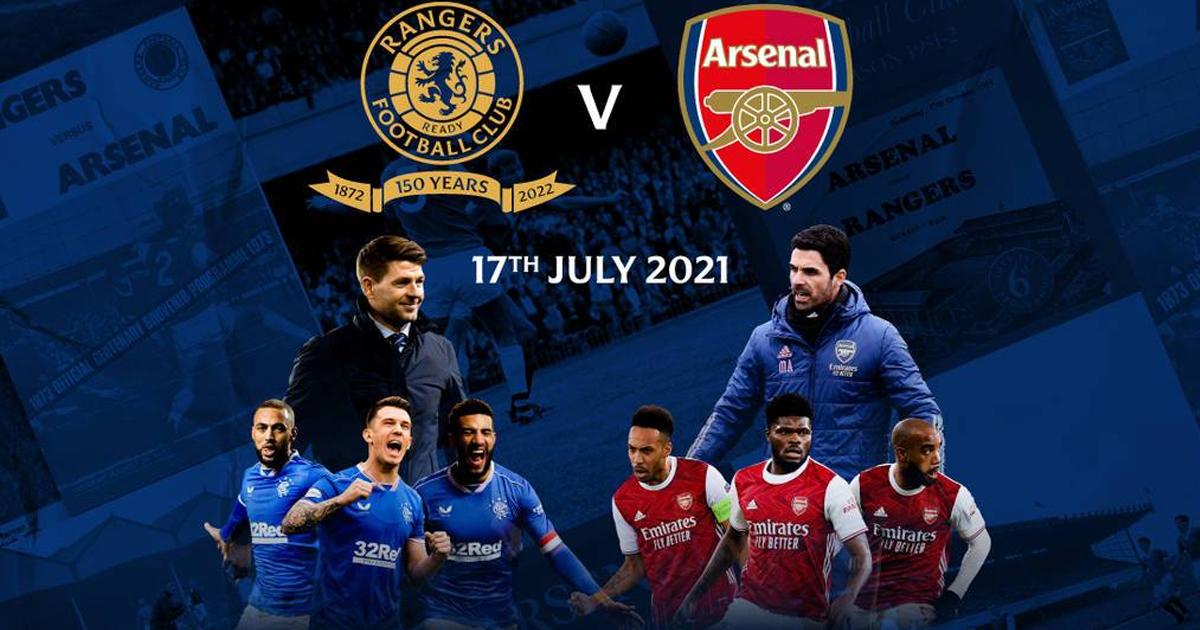 Kết quả Rangers vs Arsenal | Giao hữu CLB 2021 | 20h ngày 17/7/2021