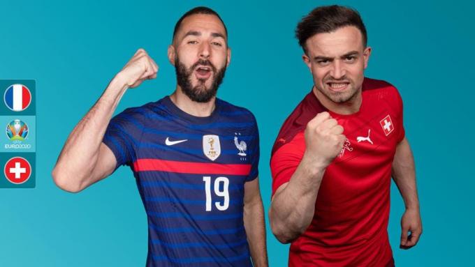 Trực tiếp Pháp vs Thụy Sĩ | EURO 2021 | 02h00 ngày 29/06/2021