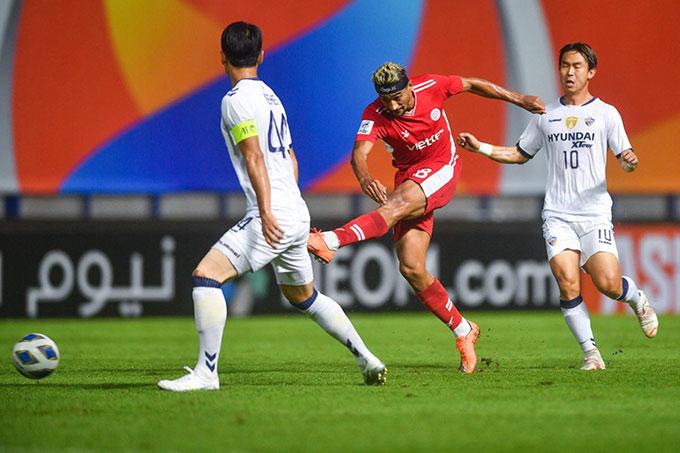 Thua Ulsan, Hoàng Đức và đồng đội không thể phá được kỷ lục của HAGL tại AFC Champions League