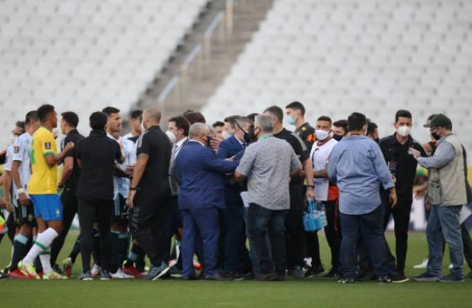 Toàn cảnh <b>drama giữa Brazil và Argentina</b> tại vòng loại World Cup 2022