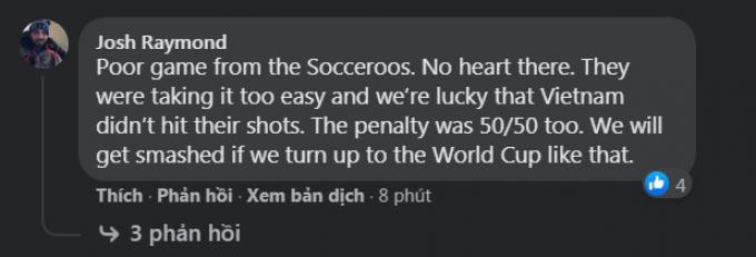 <b>Phản ứng của CĐV quốc tế</b> sau trận Việt Nam 0-1 Australia: Đội đá tốt hơn đã thua