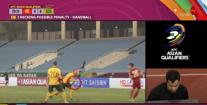 Việt Nam bị VAR từ chối 1 quả penalty trong hiệp 1 trận đấu với Australia