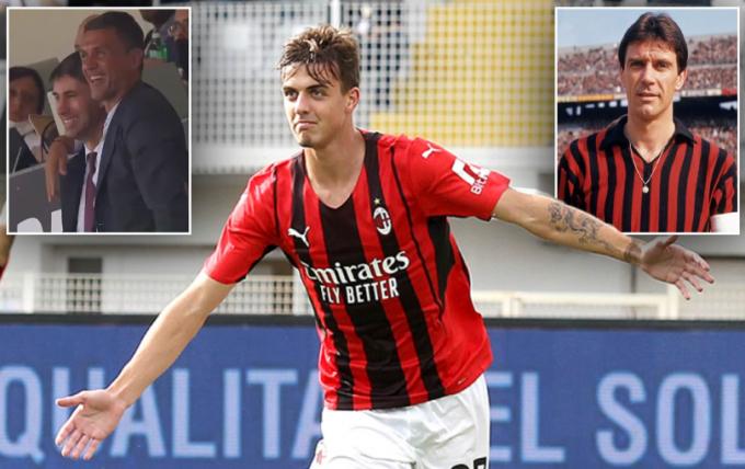 Con trai huyền thoại Maldini <b>ghi bàn ra mắt</b> giúp AC Milan dẫn đầu BXH