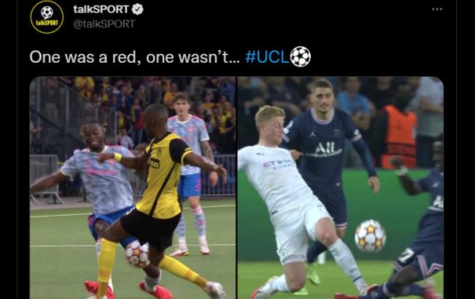 CĐV Man United phẫn nộ khi <b>sao bự Man City may mắn thoát thẻ đỏ</b>