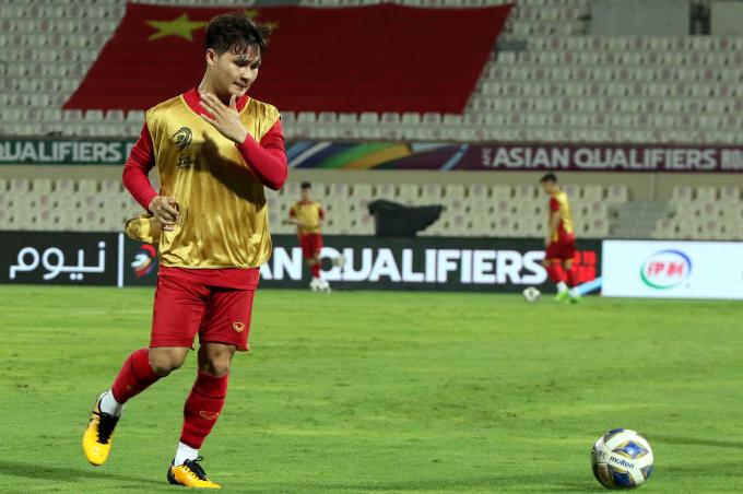 Cầu thủ Việt Nam <b>hừng hực khí thế</b> trước khi gặp Trung Quốc