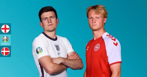 Nhận định Anh vs Đan Mạch | EURO 2021 | 02h00 ngày 08/07/2021.