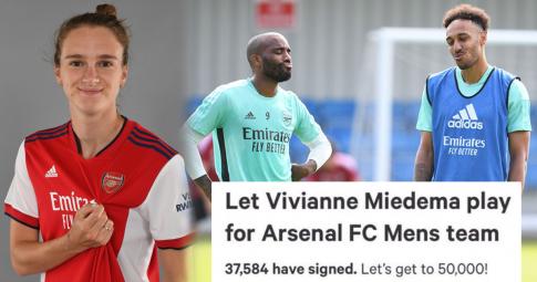 """CĐV Arsenal kêu gọi <b>""""nữ sát thủ"""" Vivianne Miedema</b> """"giải cứu"""" cho đội nam"""
