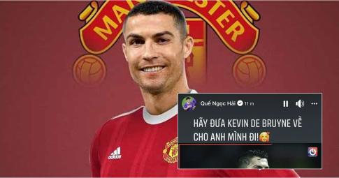 Quế Ngọc Hải và các cầu thủ Việt <b>sung sướng khi Ronaldo đã trở về MU</b>