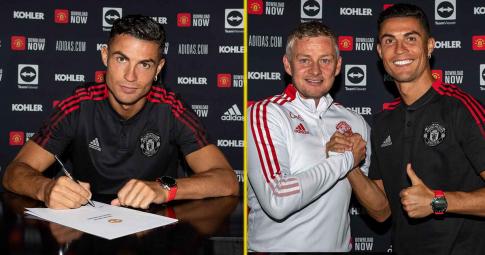 Cristiano Ronaldo ký hợp đồng với Man United, sẵn sàng đối đầu Newcastle United