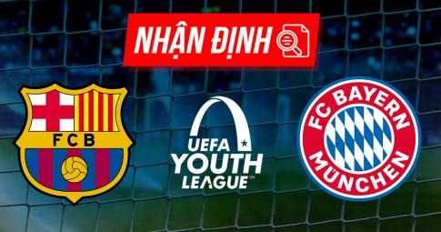 Nhận định U19 Barcelona vs U19 Bayern Munich | UEFA Youth League | 21h00 ngày 14/09