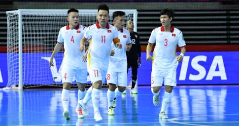 """ĐT Futsal Việt Nam được """"thưởng khủng"""" sau trận thắng ở World Cup 2021"""