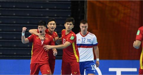 Thất bại trước á quân thế giới, ĐT Futsal Việt Nam dừng bước ở vòng 1/8 World Cup 2021