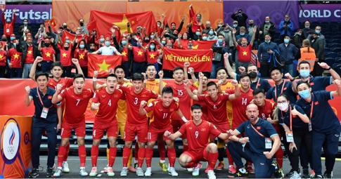 <b>Hôm nay</b>, ĐT Futsal Việt Nam lên đường về nước, khép lại kỳ World Cup đầy tự hào