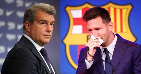"""Laporta: """"Tôi đã kỳ vọng Messi sẽ tự ngỏ lời thi đấu không lương cho Barca"""""""