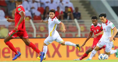 Việt Nam chưa có điểm số sau khi thua ngược Oman