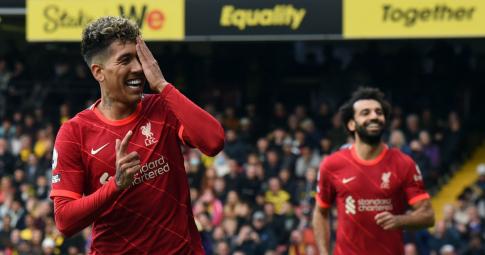 """Watford 0-5 Liverpool: Firmino và Salah thi nhau hành hạ """"Gã thợ hàn"""" Ranieri"""