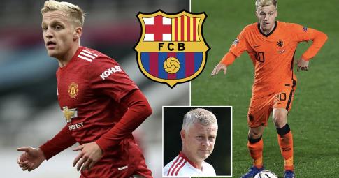 Van de Beek chốt tương lai trước sự chèo kéo của Barca