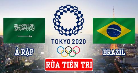 Thần rùa tiên tri dự đoán U23 Saudi Arabia vs U23 Brazil | Olympic Tokyo 2021 | 15h ngày 28/7/2021
