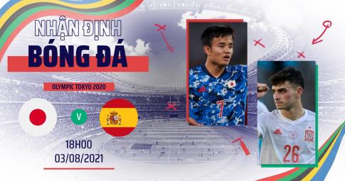 Kết quả U23 Nhật Bản vs U23 Tây Ban Nha | Olympic Tokyo 2021 | 18h ngày 3/8/2021