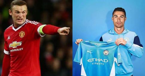 """Rooney: """"Tôi <b>không thể chấp nhận</b> việc Ronaldo khoác áo Man City"""""""