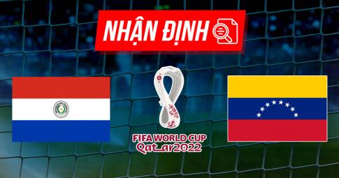 Nhận định, dự đoán Paraguay vs Venezuela | World Cup 2022 | 5h30 ngày 10/9/2021