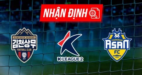 Nhận định Gimcheon Sangmu vs Chungnam Asan | K League 2 | 17h30 ngày 13/09/2021