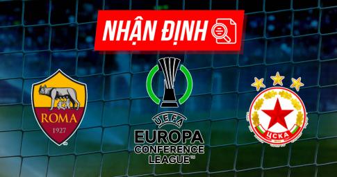Nhận định Roma vs CSKA Sofia | Conference League | 02h00 ngày 17/09/2021