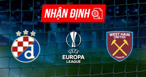 Nhận định Dinamo Zagreb vs West Ham United | Europa League | 23h45 ngày 16/09/2021