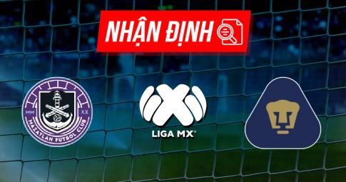 Nhận định Mazatlan vs Pumas UNAM   Liga MX   09h00 ngày 19/09/2021