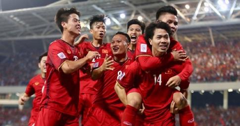 Việt Nam tụt hạng FIFA sau trận thua Trung Quốc