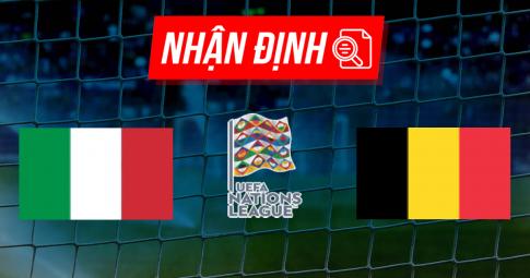 Nhận định Italia vs Bỉ | Nations League | 20h00 ngày 10/10/2021
