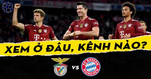Xem trực tiếp Benfica vs Bayern Munchen ở đâu, kênh nào