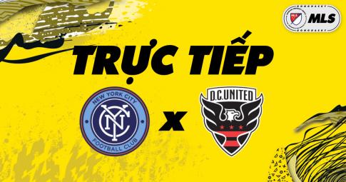 Trực tiếp New York City vs DC United | MLS | 06h30 ngày 24/10/2021