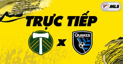 Kết quả Portland Timbers vs San Jose Earthquakes | MLS | 09h00 ngày 28/10/2021